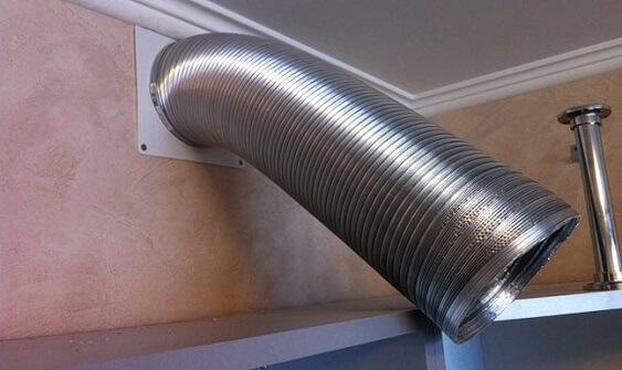 Гофрированная вентиляционная труба