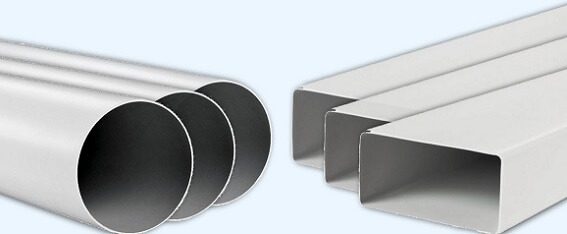Круглые и квадратные пластиковые трубы для воздуховода