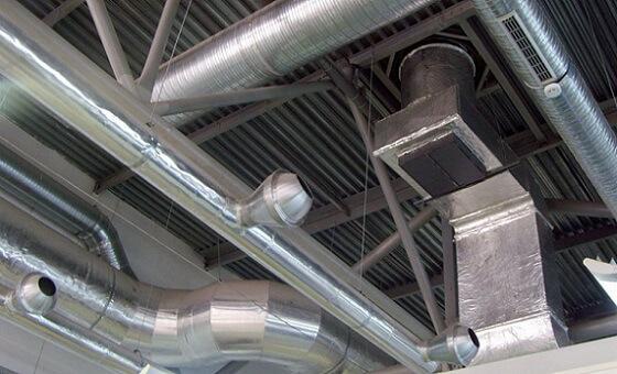 Круглый воздуховод для вентиляции