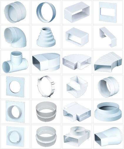 Пластиковые элементы воздуховода
