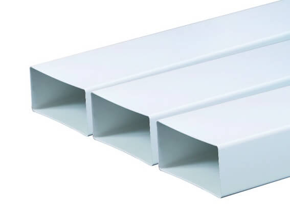 Трубы прямоугольного пластикового воздуховода