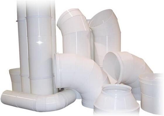Элементы пластиково воздуховода