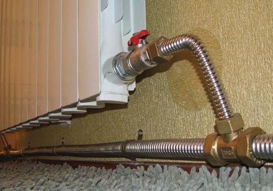 Отопление с использование гофрированной трубы