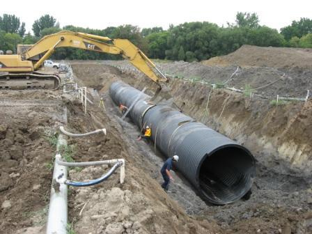 Установка водопроводной трубы