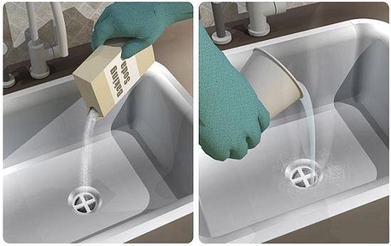 Очистка средствами бытовой химии