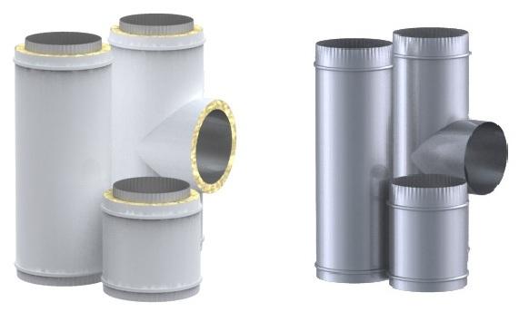 Утепленные и неутепленные газоотводные трубы