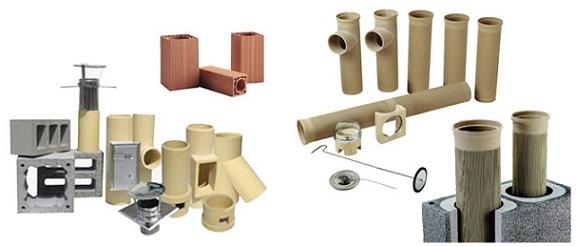 Составные части керамического дымохода