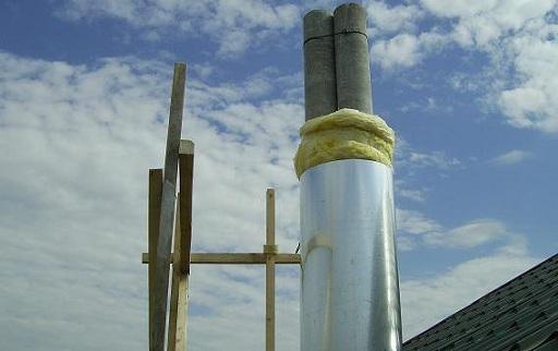 Утепление дымохода из асбестоцементной трубы