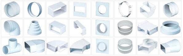 Комплектующие ПВХ для вентиляции
