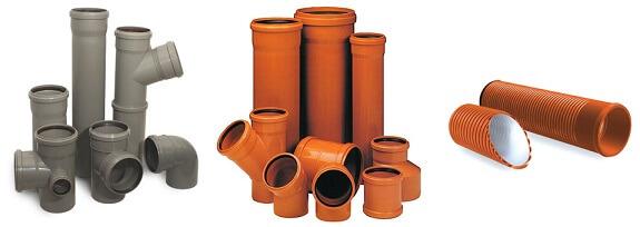 Трубы из ПВХ для канализации
