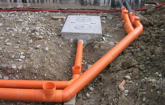 Укладка труб наружной канализации