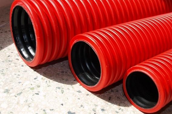 Гибкая двустенная труба для кабельной канализации
