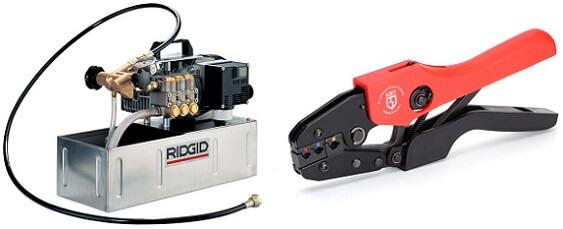 Ручной и электрический пресс для опрессовки