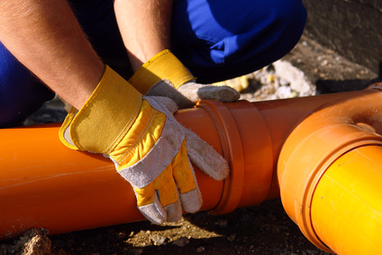Соединение труб канализации