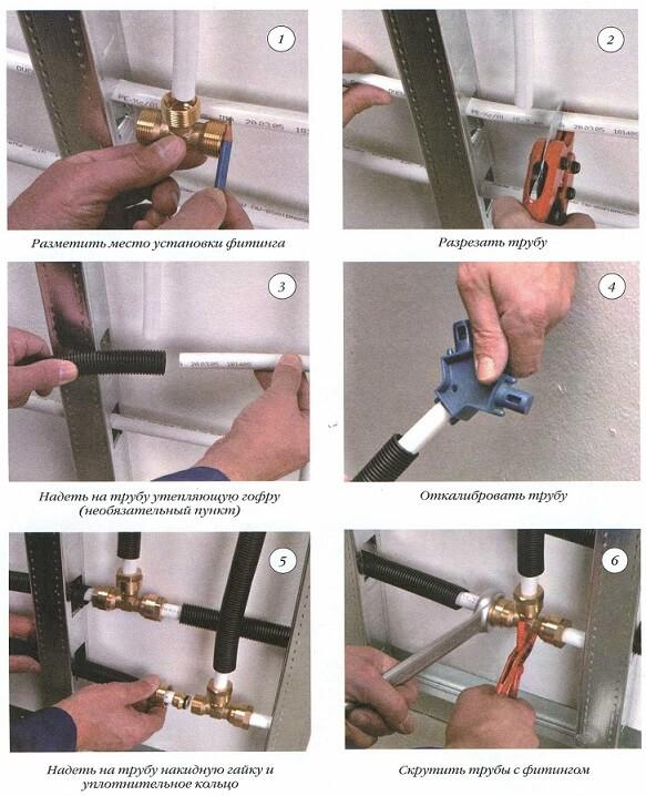 Как монтировать металлопластиковые трубы