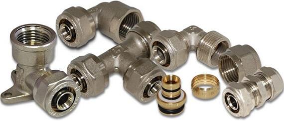 Компрессионные фитинги для металлопластиковых труб
