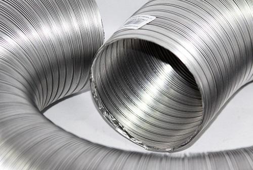 Гофрированные алюминиевые трубы используются для систем вентиляции