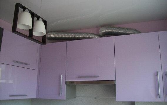 Гофротруба для вытяжки на кухне