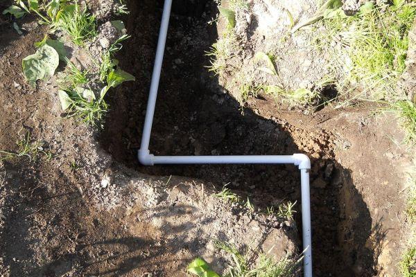 Прокладка летнего трубопровода