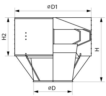 Обозначение размеров дефлектора