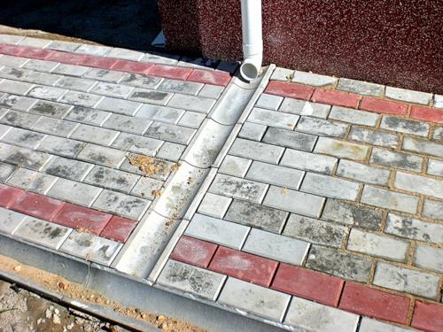 Сток для тротуарной плитки