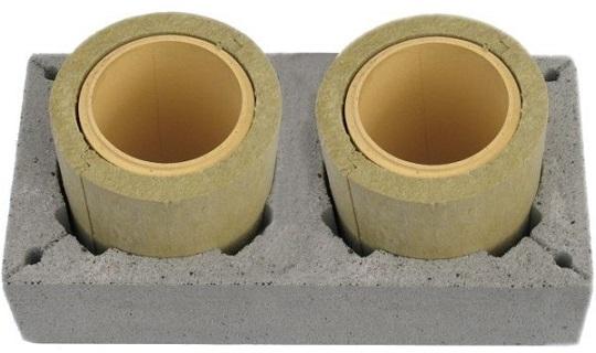 Двухходовый керамический дымоход