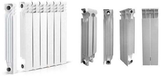 Секции радиатора отопления