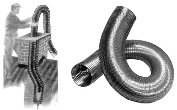 Гофрированная труба для дымохода