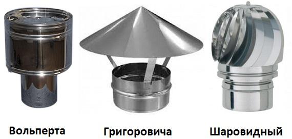 Дефлектор Вольперт, Григоровича и шаровидный