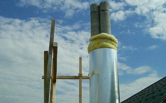 Теплоизоляция асбестоцементного дымохода