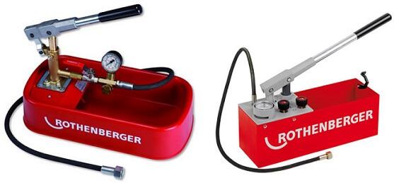 Гидравлический насос для опрессовки системы отопления