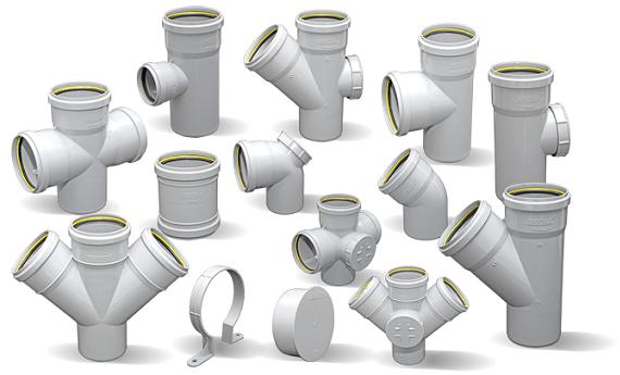 Соединительные элементы труб канализации