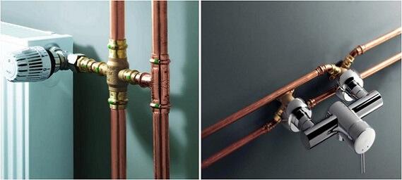 Медные трубы для отопления и водоснабжения