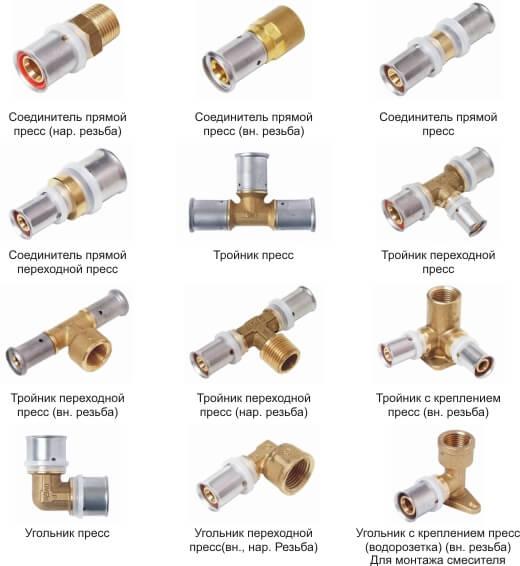 Прессовые фитинги для металлопластиковых труб